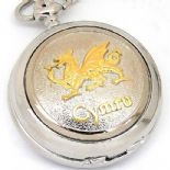 Welsh Dragon Pocket Watch, PERSONALISED ref PWWEL